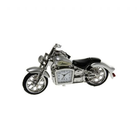 Silver Coloured Classic Motorbike Clock